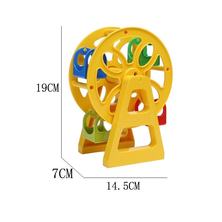 Runner Ferris wheel Model Amusement Park Set Bricks Big Particles Building Blocks accessory Kids Toys Compatible with Duplo DIY leadingstar 40pcs parent child magnetic building blocks set shape activities diy toys kids toys with wheel toys 702