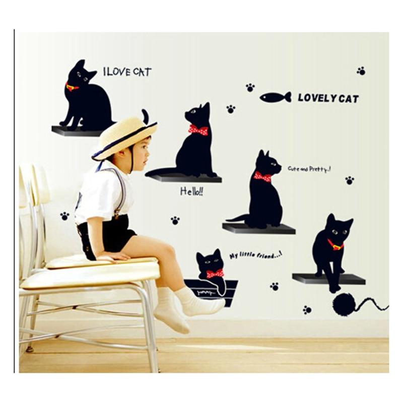 Cat Wall Decor popular cat wall decorations-buy cheap cat wall decorations lots