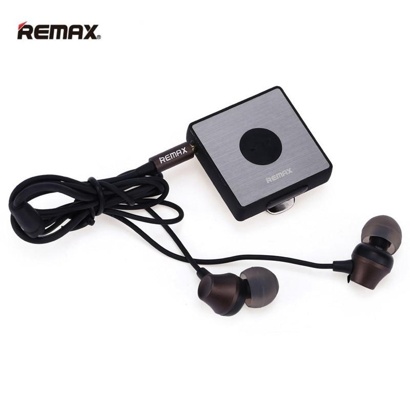 Remax RB-S3 Sports Lavalier Clip Bluetooth Earphone Wireless Stereo Bluetooth FM Radio fone de ouvido Earphones With Retail Box гарнитуры remax спортивная bluetooth гарнитура remax sport rb s3 black
