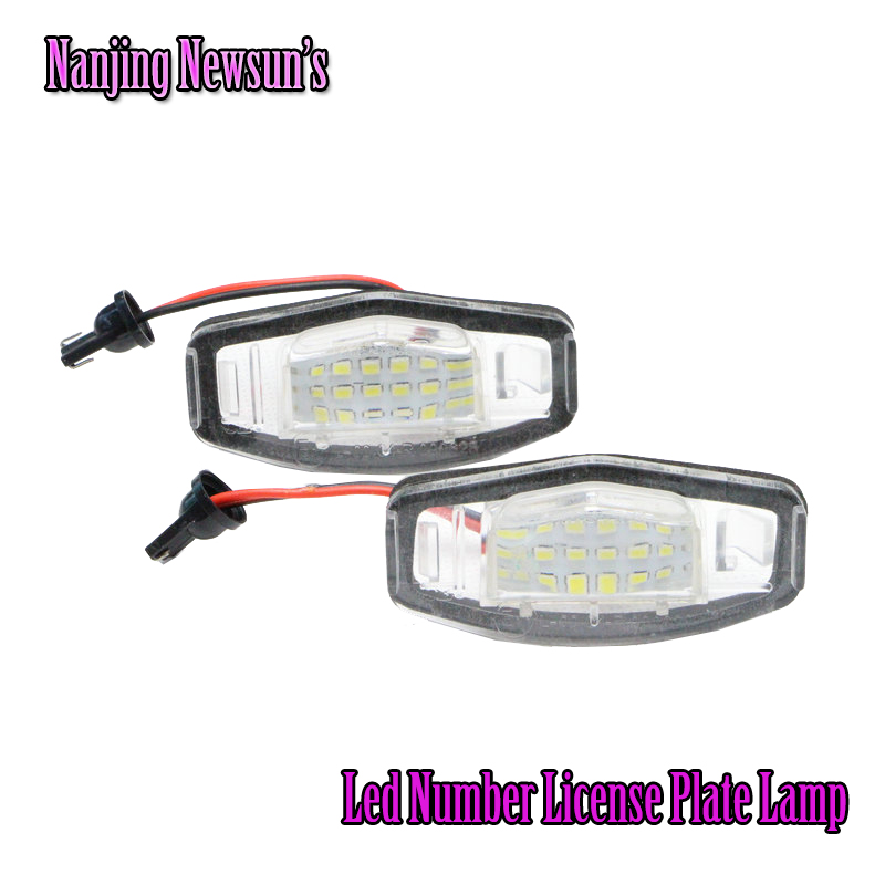 Super Bright 18 LED SMD License Plate Lamp For Honda Civic Legend Accord 6000K White Car