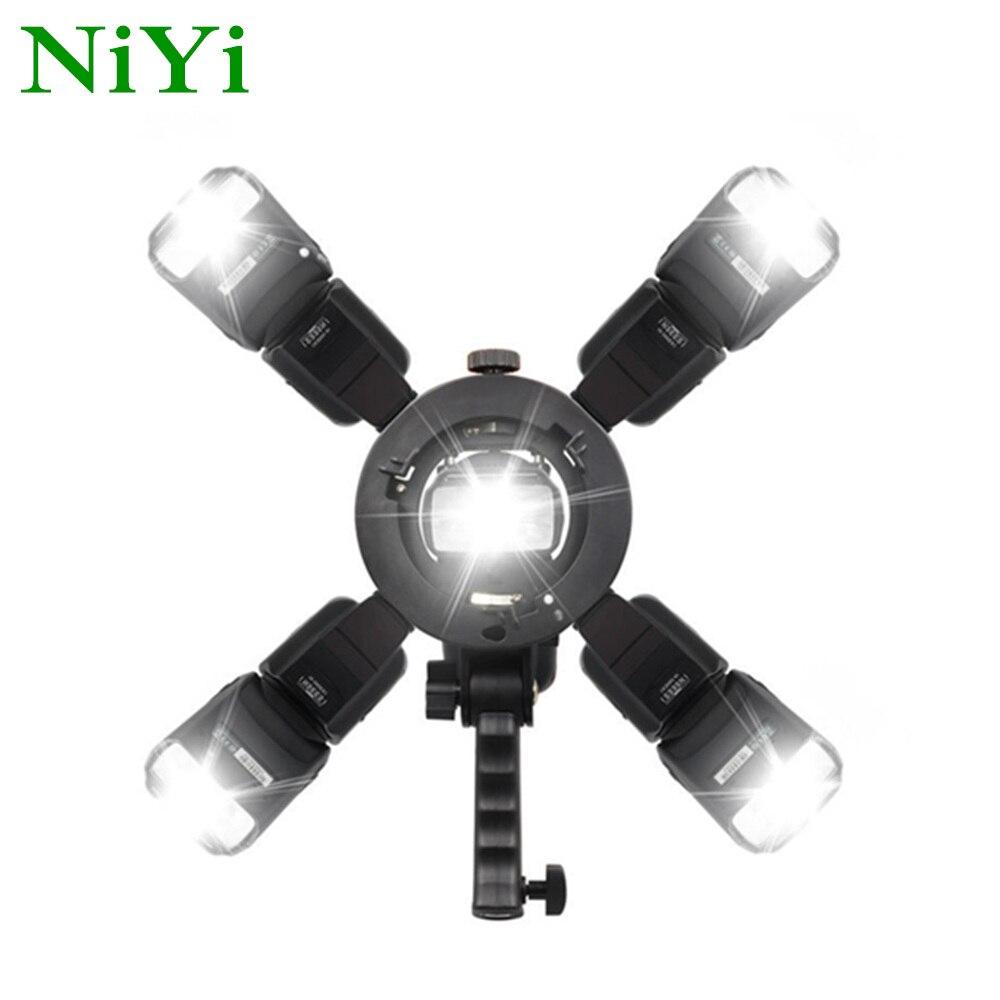 Handheld Grip S-Type Bracket Bowens Mount Holder For Canon Nikon Yongnuo Godox Speedlite Flash Softbox Light Tripod Stand
