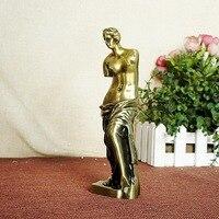 Venus Goddess Model Statue Desktop Artistic Figure Sculpture Home Decoration Metal Craft Alloy Ornament