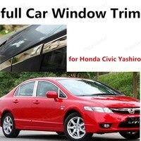 Оптовая для Honda Civic Yashiro полное окно планки с колонка из нержавеющей стальной раме окна украшения отделка