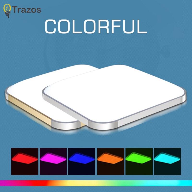Luzes de Teto 2017 colorido rgb luminária moderna Técnica : Banhado