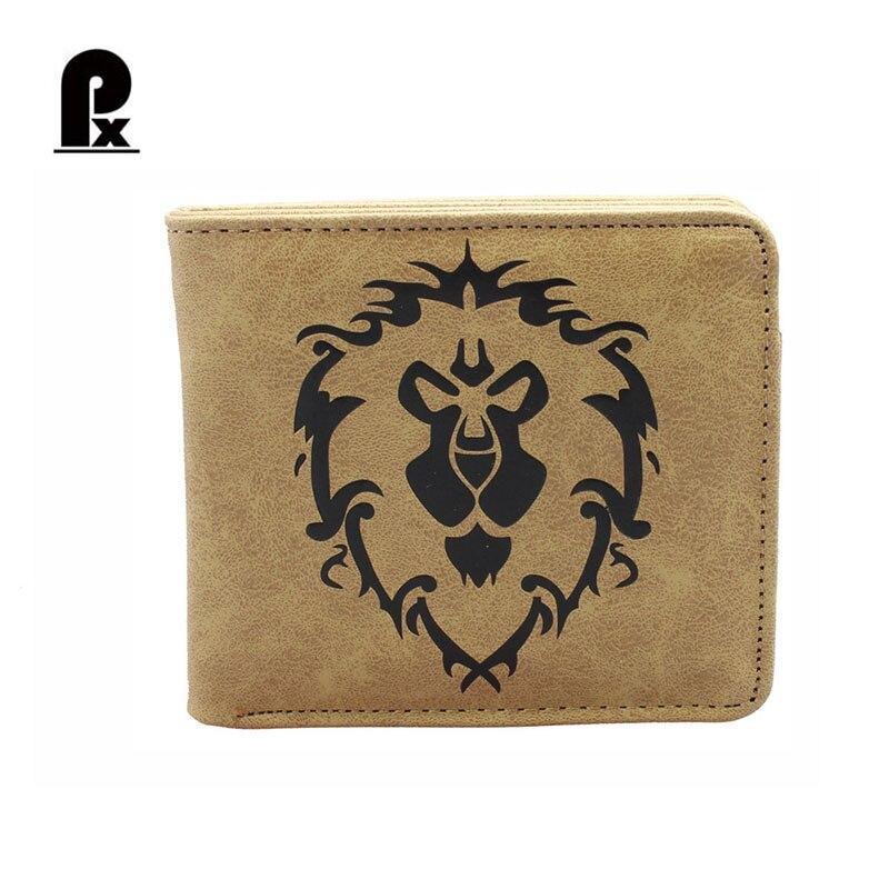 vintage World of Warcraft Wallet Anime Walle PU Wallet Men Wallets Luxury Russia Money Clip Men's Leather Wallet Male Purse