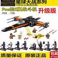 Venta caliente 748 unids 2016 LEPIN 05004 79209 Star Wars primer Orden de Poe x-wing Fighter Montado Bloques de Construcción de Juguete de Navidad regalo