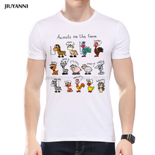 2017 Summer Fashion Men's T-Shirts Great Men's of Science Printed T Shirts Casual Slim Top Men Short Sleeve Tee