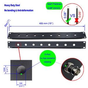 Image 5 - 1U Rack Mount,Shelf Tray Case, Patch Panel, Antenna Cable Extension for SLX4 288 Sennheise ew100G2 G3 ew135 G2 G3 Wireless Mic