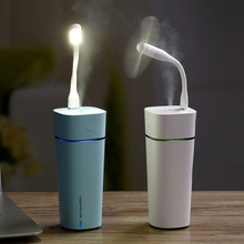 3 In 1 Mini Ultrasonic Humidifier Fan USB LED Light with Cool Mist with 7 Color Changing for Car Home Office Nano water spayers 3 in 1 200ml usb cat air humidifier ultrasonic cool mist adorable mini humidifier with led light mini usb fan for home office
