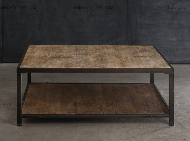 American Country To Do The Old Wrought Iron Wood Coffee Table Living Room Sofa Vintage