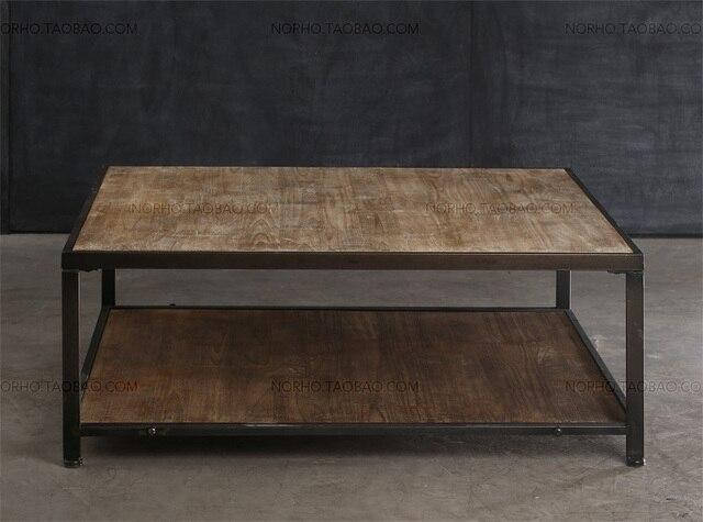 Woonkamer Vintage Bank : Amerikaanse land te doen van de oude smeedijzeren hout salontafel