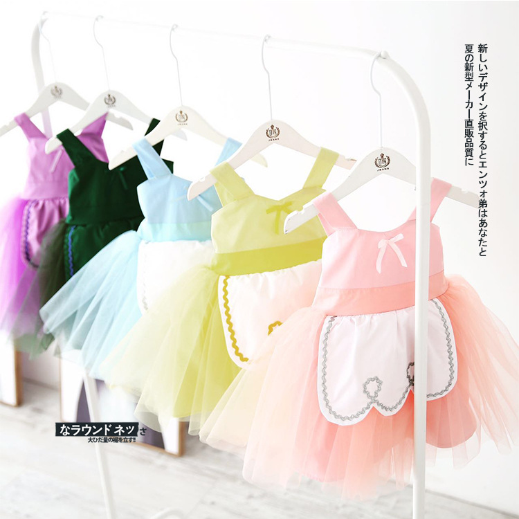 Baby Girl Dress 2018 New Casual Summer Baby Clothes Sleeveless Princess Straps Mesh Dress Baby Girl Clothes Ball Gown Hot Sale