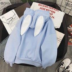 Hoodies Women Winter Thicken  Ulzzang Kawaii Long Sleeve Womens Pullover Cartoon Printed Hooded Students Ladies Sweatshirts 5