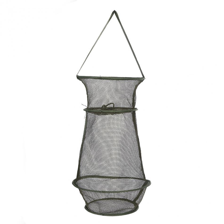 3 Sections Fishing Net Foldable Rede Fishing Net Crawfish Mesh Fishing Network Fish Mesh Net Trap Cage ...