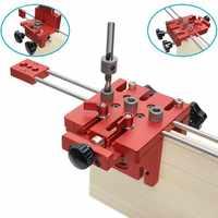3 en 1 para trabajar la madera, perforadora, perforadora, localizador guía, Jig, Kit de sistema de carpintería, aleación de aluminio, herramienta de bricolaje para trabajar la madera