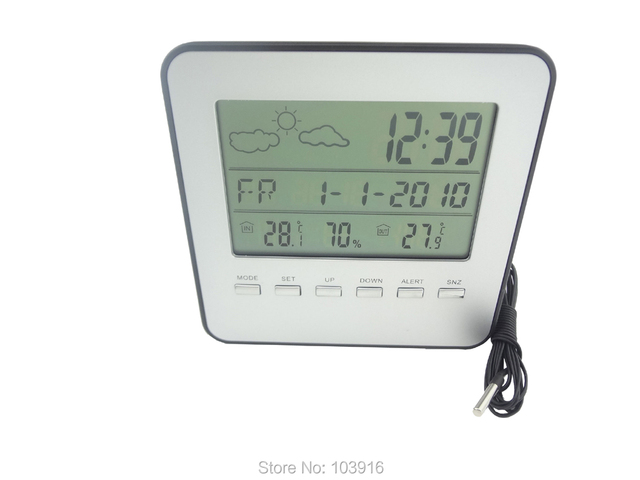 Aliexpress.com : Buy Free shipping LCD Wired Weather Station ...