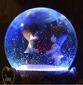 Kawaii globo de neve de natal caixa de música de presente de aniversário presente de casamento presente criativo boutique presente