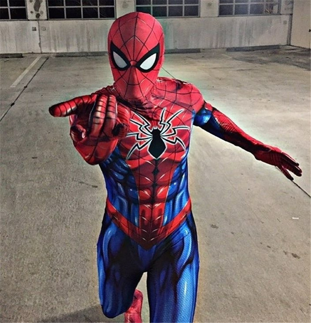 New Spiderman Costume 3D Printed Adult Lycra Spandex Spider-man Costume For Halloween Mascot Cosplay Zentai Suit