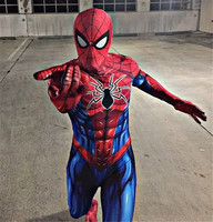New Spiderman Costume 3D Printed Adult Lycra Spandex Spider man Costume For Halloween Mascot Cosplay Zentai suit