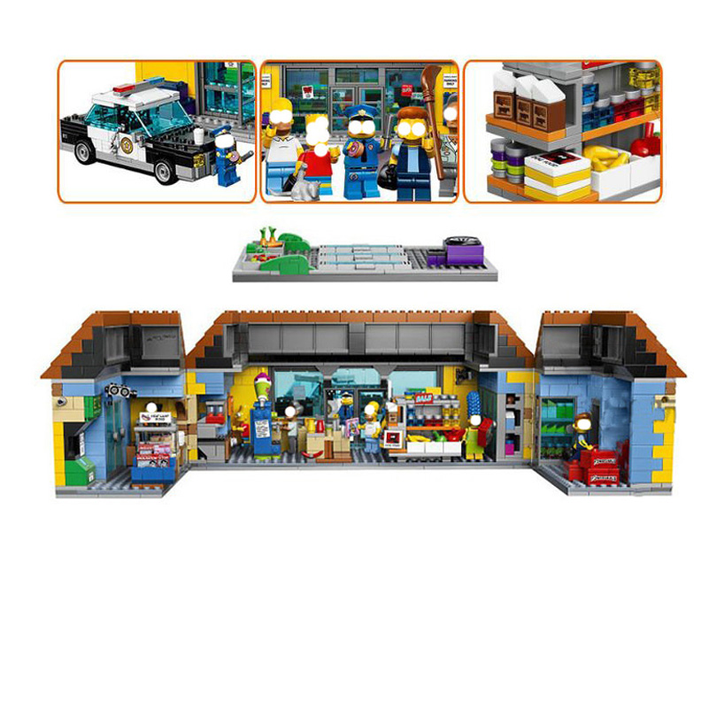 Lepin Movie Series Building Blocks Figure Supermarket Model 2232pcs Bricks Toys Simpsons Compatible Gifts For Children 16004 dhl new lepin 06039 1351pcs ninja samurai x desert cave chaos nya lloyd pythor building bricks blocks toys compatible 70596