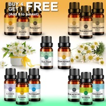 Essential Oils 100% Pure Natural 10ml Glass Bottle For Diffu