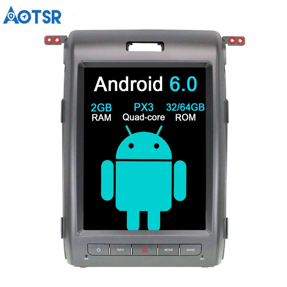 Aotsr Android 6.0 Tesla style Car No DVD Player GPS Navigation For Ford F150 2009 2014 car multimedia player 2din recorder unit