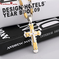 WesternRain 2017 Fashion Necklace Stainless Steel Fashion Cross Man And Lockets Pendant&Necklace For Men Jewelry F5301