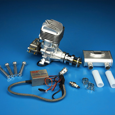 DLE35RA RC gasoline engine single cylinder two stroke exhaust natural wind cooled hand start 35CC displacement
