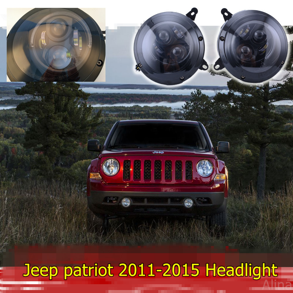 Us 276 39 17 Off 1set High Low Beam Led Headlight With Drl Halo Parking Light Fit Jeep Patriot 2017 Retrofit In Car Embly From