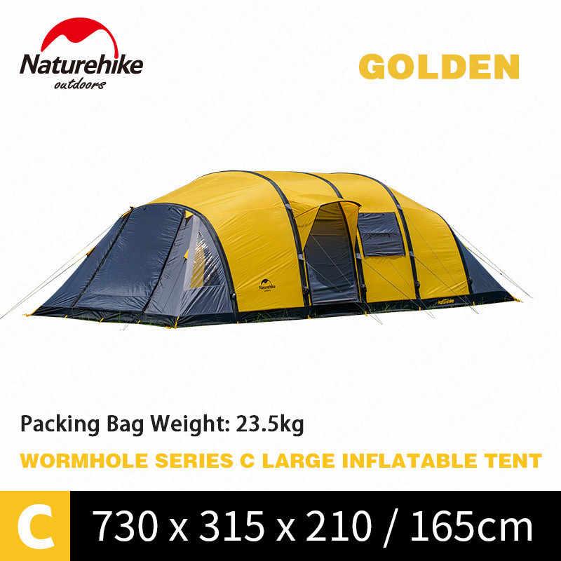 Naturehike Solucan Deliği Serisi Kamp Çadırı 3-8 Kişi aile çadırı Nefes Su Geçirmez Şişme Çadır Açık Seyahat Çadırı