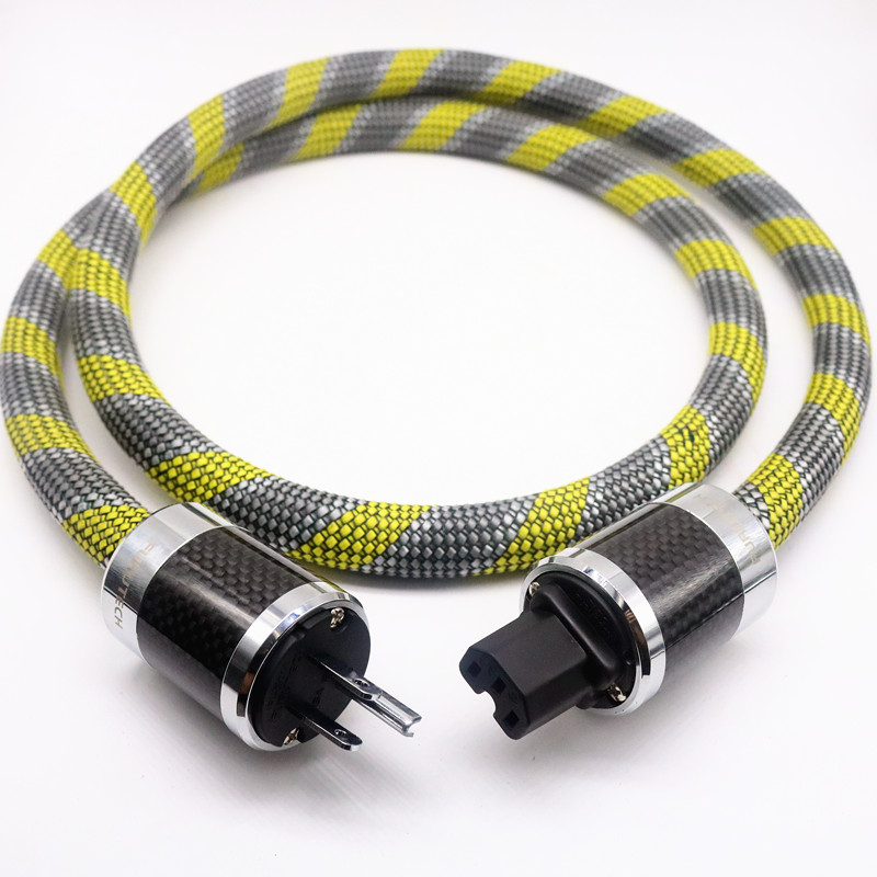HI-End 8N OCC copper US power cable with carbon fiber connector plug hifi power cord цена и фото