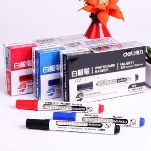 Image 2 - 1 takım/2 adet beyaz tahta marker beyaz tahta işaretleyici siyah kuru silme silgi İşaretleyiciler kalem kalemler pürüzsüz yazma mavi siyah ve kırmızı