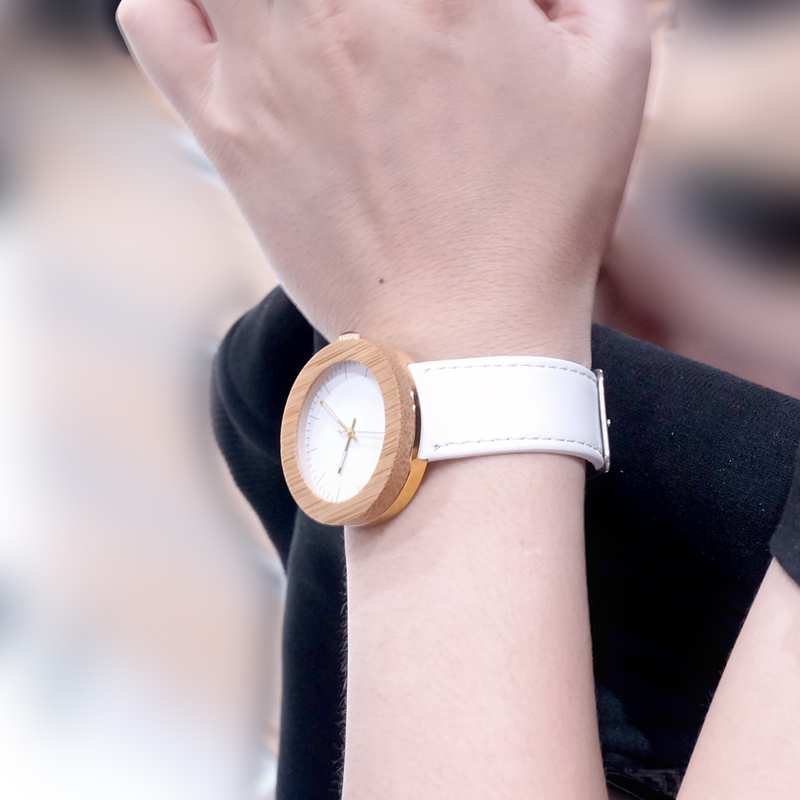Women Bamboo Wood Watches Montre Femme Lady Quartz Wristwatch relogio feminino C-J27 (14)