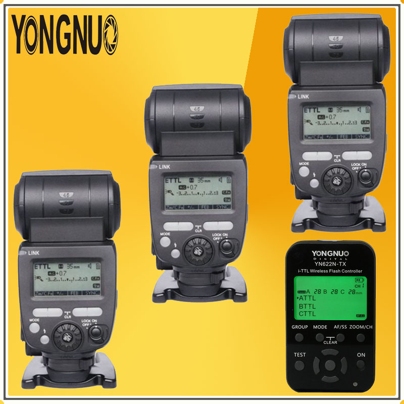YONGNUO 3*YN685 Wireless HSS TTL Speedlite Flash Build in Receiver Worked with YN622N-TX Radio Master Transmitter For NIKON DSLR solid carbide c12q sclcr09 180mm hot sale sclcr lathe turning holder boring bar insert for semi finishing