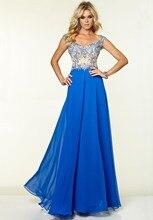 2015 Rushed Prom Kleider New Charming Sweetheart Dicken Riemen A-line Chiffon-Kleid Bodenlangen Abendkleid F373