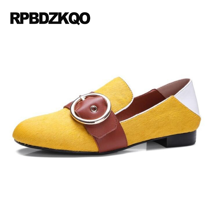 Women Designer Mules Luxury Green Yellow 2017 Slip On Ladies Slippers Famous Brand Shoes Round Toe Flats Loafers Horsehair все цены