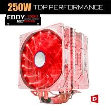Alseye eddy-120r процессор кулер 4 тепловых трубок tdp 220 Вт 2 шим СИД 4pin 120 мм Вентилятор с Алюминиевым Радиатором Радиатор для LGA 775/115x/AM2/3