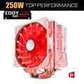 Alseye eddy-120r 4 heatpipes refrigerador de la cpu tdp 220 w 2 pwm LED 4pin 120mm ventilador con disipador de calor de aluminio del radiador para lga 775/115x/AM2/3