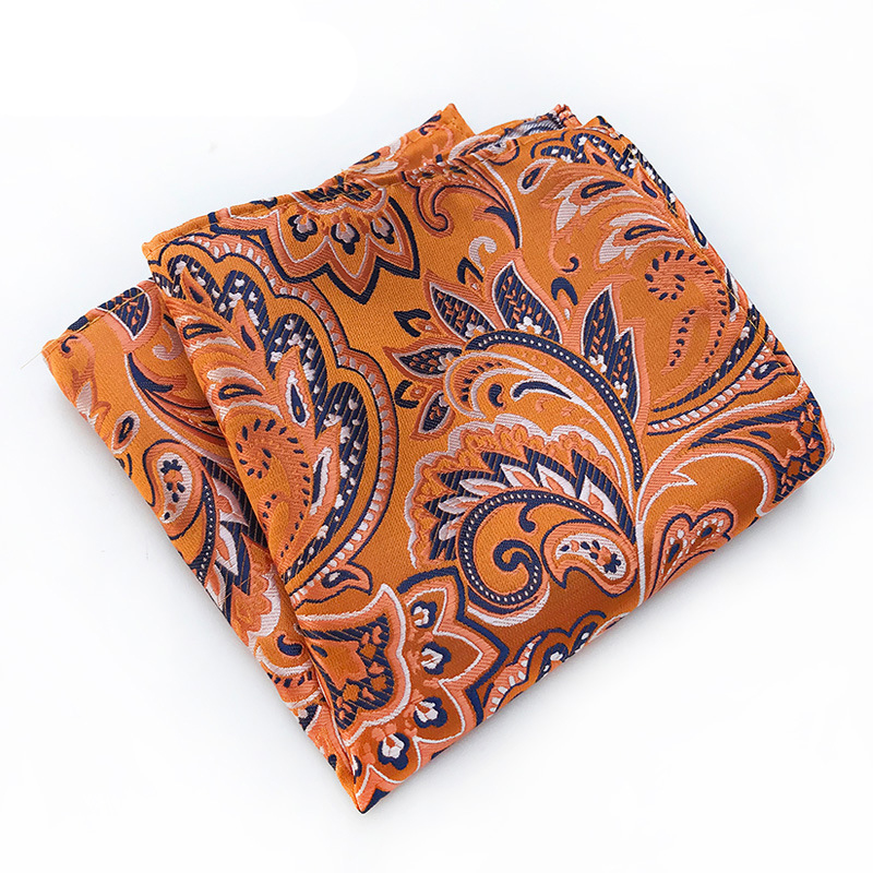 Business Handkerchief  Mens Suits Pocket Square For Wedding Party Hankies For Men Brand Floral Printed Small Pocket Towel