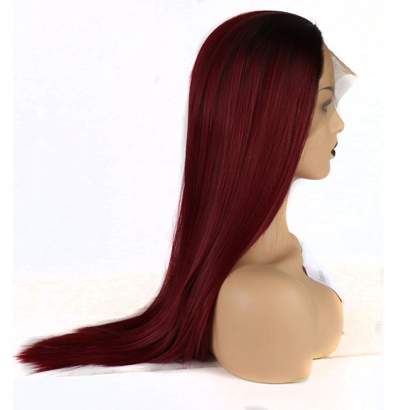 Bombshell 180% Density Burgundy Wine Red Synthetic Lace Front Wig Glueless Ombre 118# Straight Wig Heat Resistant Hair Wigs-in Synthetic Lace Wigs from Hair Extensions & Wigs on AliExpress - 11.11_Double 11_Singles' Day 1