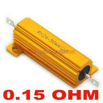 (20 pcs/lot) 0.15 OHM 50W Wirewound Aluminum Housed Resistor, 50 Watts.