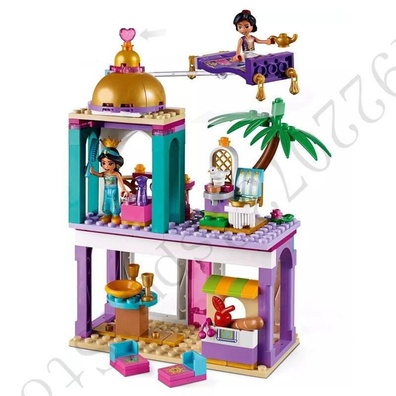 2019 Fairy Princess Aladdin And Jasmine'S Palace Adventures Figures Building Blocks Bricks Kids Toys With  41161