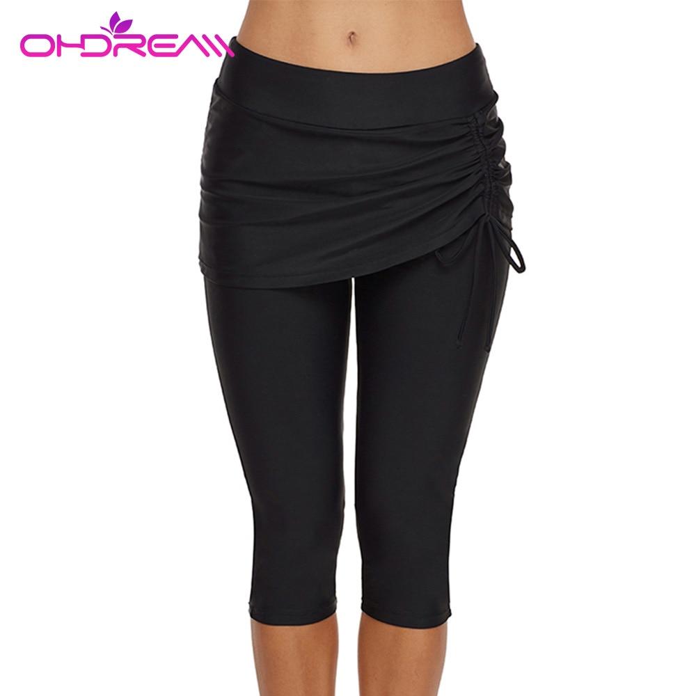 OHDREAM Female Fitness Sports Short Pants Women Swimwear Bottoms Cropped Leggings Tights Women Beachwear Fitness Sport Pants