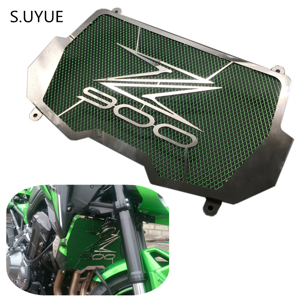 S.UYUE Motorcycle Stainless Steel Radiator Grille Guard Protection for KAWASAKI Z900 Z 900 2017 Bezel engine grill guard cover motorcycle radiator grille grill guard cover protector golden for kawasaki zx6r 2009 2010 2011 2012 2013 2014 2015