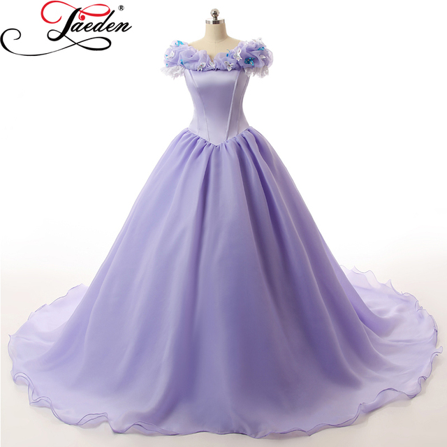 JAEDEN Lace Organza Fairytale Wedding Dresses Cap Sleeves Crystal ...
