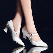 สตรีCroosสายปั๊มMedส้นC Omfortสุภาพสตรีที่สง่างามส้นค่ำรองเท้าเจ้าสาวนิ้วเท้าชี้รองเท้าส้นสูงผู้หญิงฟรีการจัดส่งสินค้า