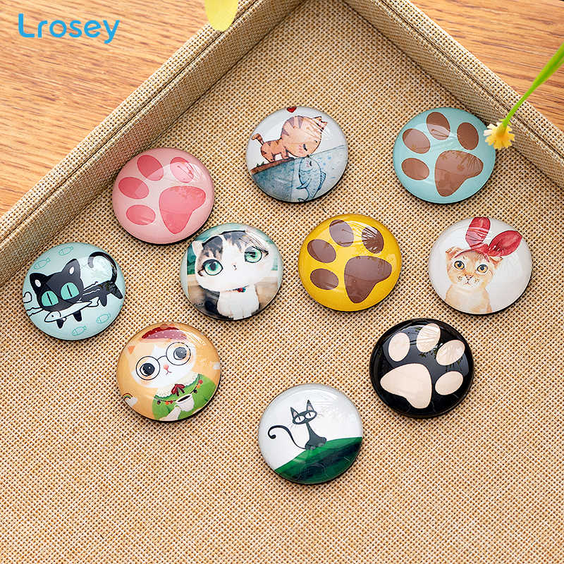 Gl Refrigerator Magnets Creative Lucky Cat Crafts Diy House Home Decoration Accessories Retro Cartoon Animal Fridge