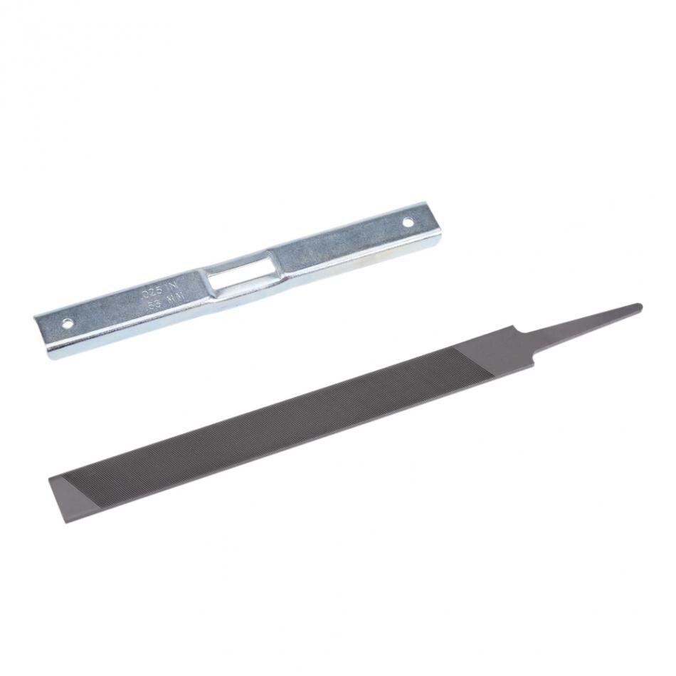 1 Satz Holzbearbeitung Kettensäge Schleifwerkzeug Kit Tiefenanschlag & Flache Datei Für Allgemeine Kettensäge Jade Weiß