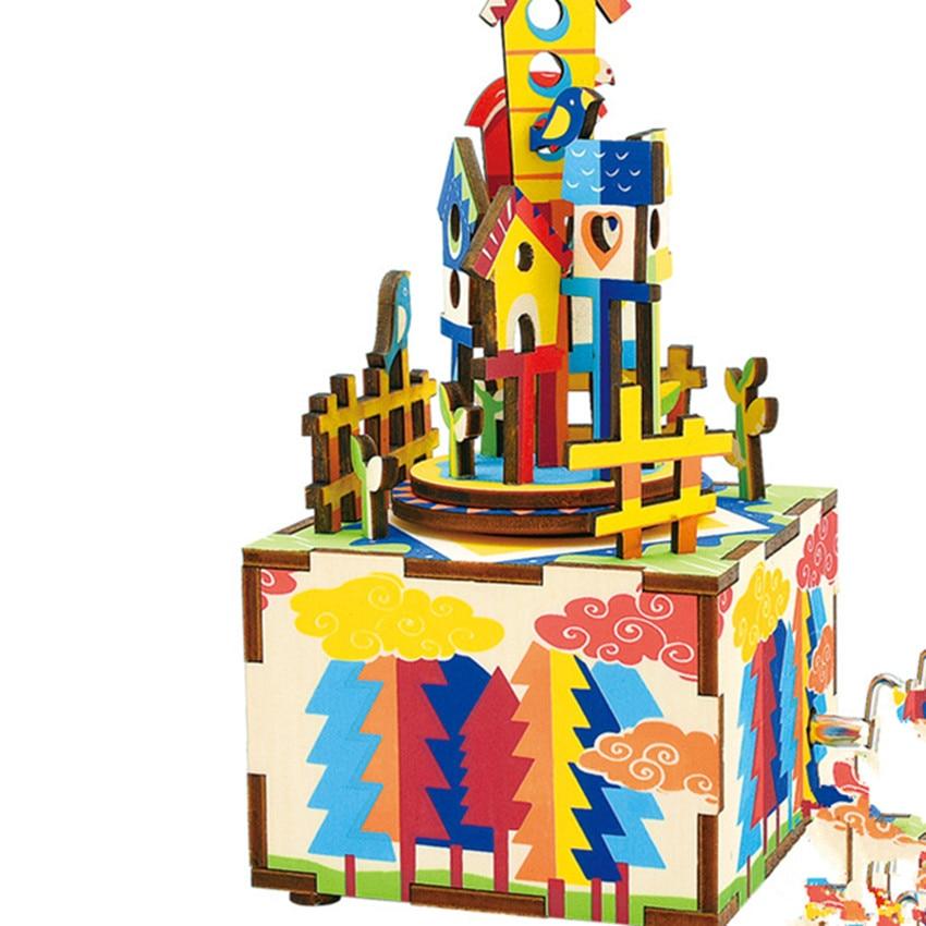 Diy Creative Modern Christmas Gift Wooden Music Box Gift
