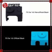 For E3D V6 Silicone Sock 3D printer V6 PT100 Original J-head 1.75/3.0mm Heated Block Bowden Direct Extruder Prusa i3 MK3